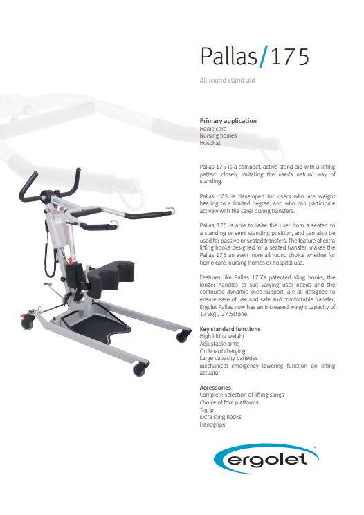 Pallas 175 Manual Stand Aid - Mangar UK