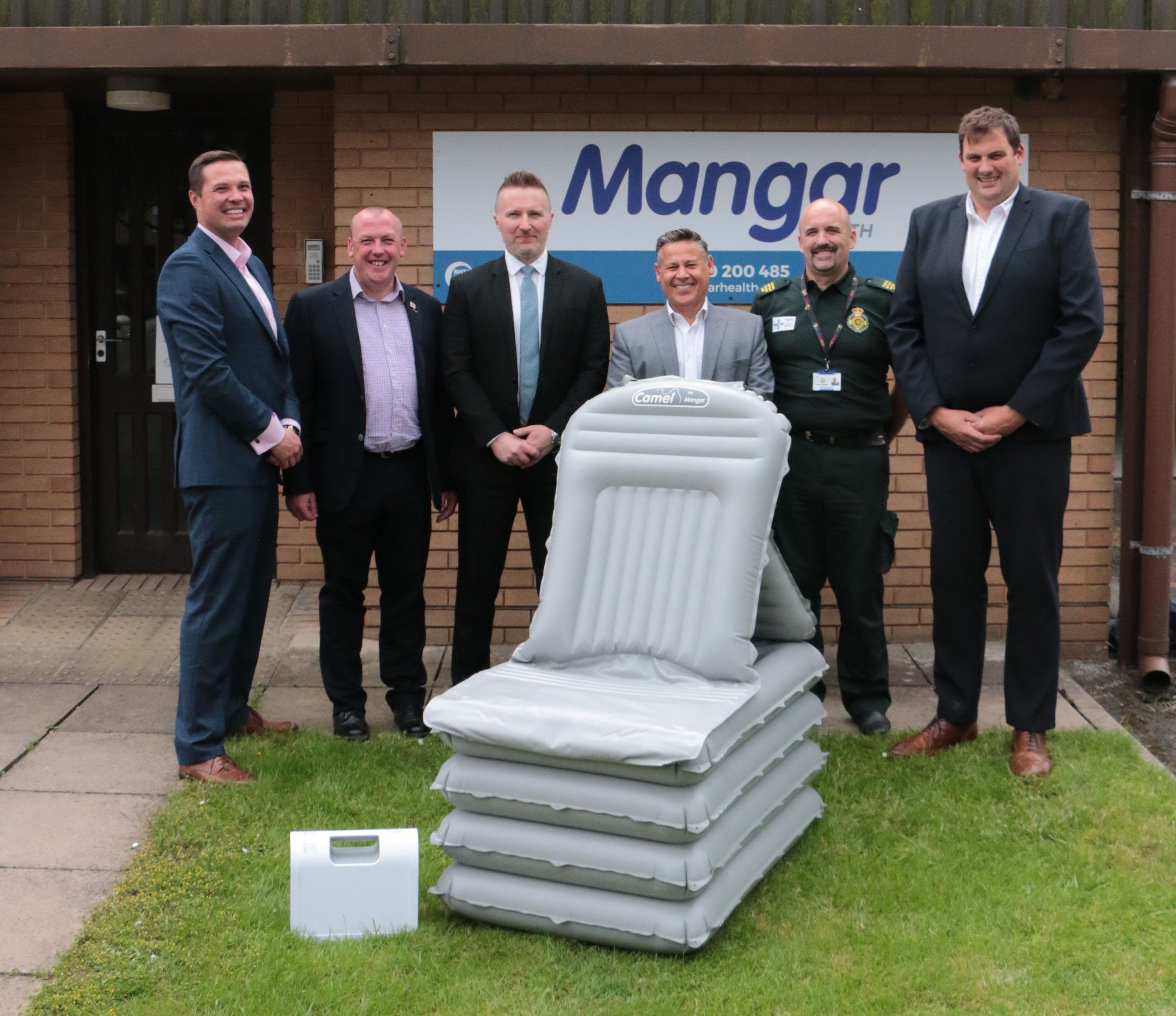 Mangar Health Welcomes The Welsh Ambulance Service To Their Manufacturing Facility In Wales